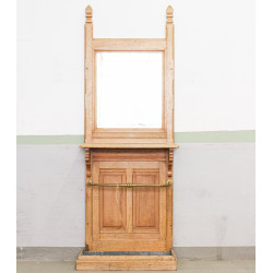 Oak Console with Mirror and...