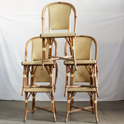 Set of 5 Rattan Chairs
