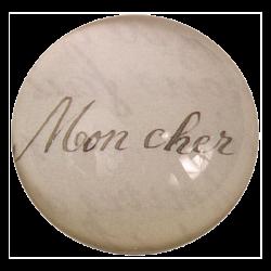 Mon Cher | Fermacarte dome...