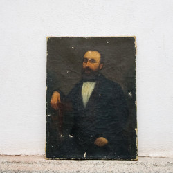 Dipinto Uomo con Occhiali