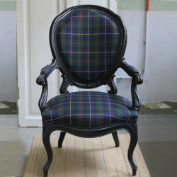 Pair of Tartan Armchairs